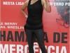 Halle Berry na coletiva de  lançamento do filme Chamada de Emergência